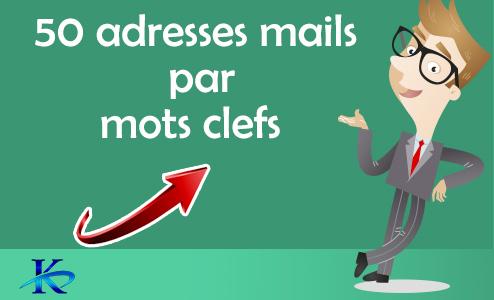50 mail par mots clefs