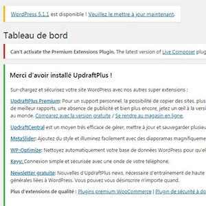 Comment désactiver les notifications du tableau de bord WordPress