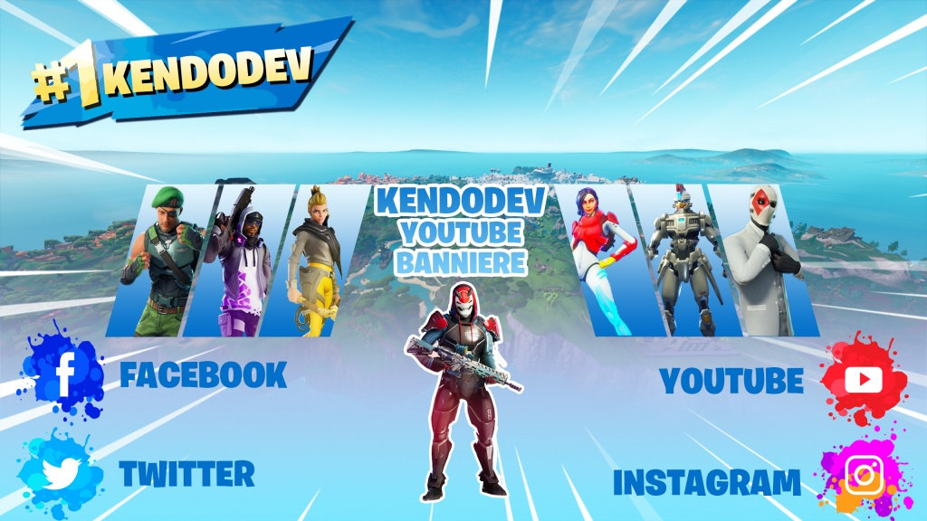 banniere fortnite youtube photoshop