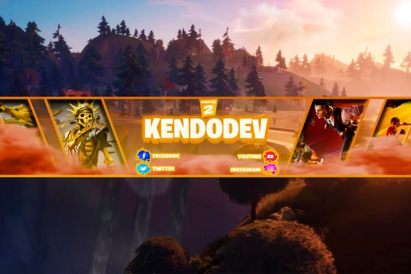 pack banniere fortnite twitch et youtube
